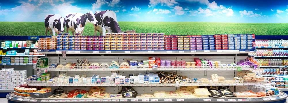 Tydlig och luftig exponering av varor i butik