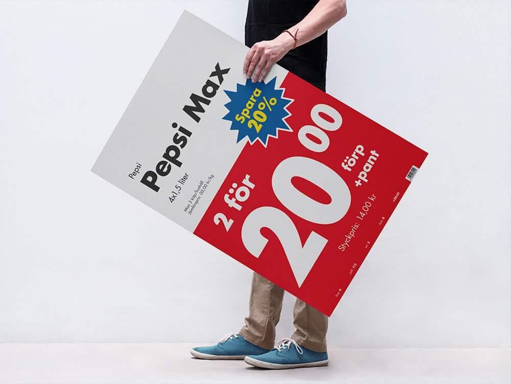 Ett exempel på Eurocash uppdaterade priskommunikation.