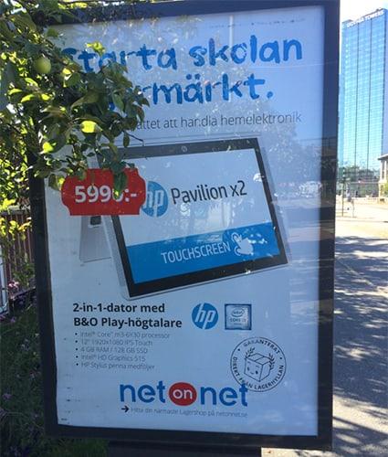 HP 2 in 1 dator från NetOnNet