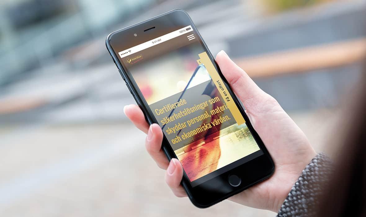 Monitor Larm – Webbplats – Mobile – Right Thing united