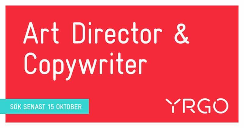 Yrgo Art Director och Copywriter utbildning sök senast 15 oktober
