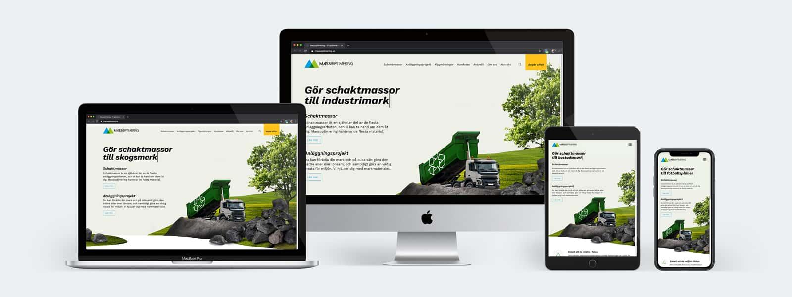 Massoptimering - Webbplats som säljverktyg